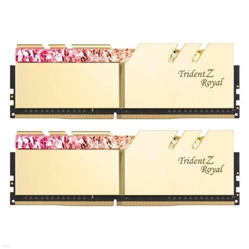 G.SKILL DDR4 16G PC4-35200 CL18 TRIDENT Z ROYAL 골드 (8Gx2)