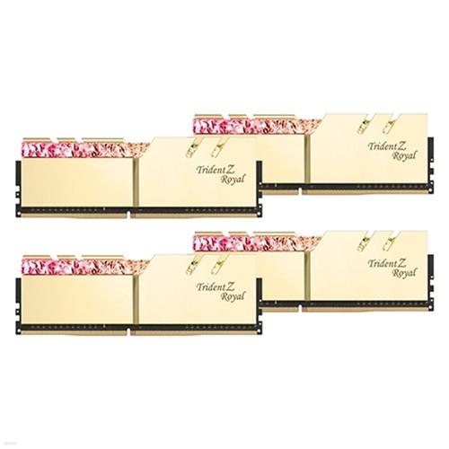 G.SKILL DDR4 64G PC4-25600 CL14 TRIDENT Z ROYAL 골드 (16Gx4)