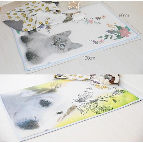 [헬스피아라이프] 3D메쉬 유아용 동물 쿨매트 120x80cm