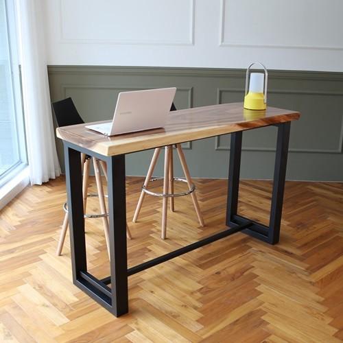 라센 보루네오 우드슬랩 통원목 바 테이블 1500