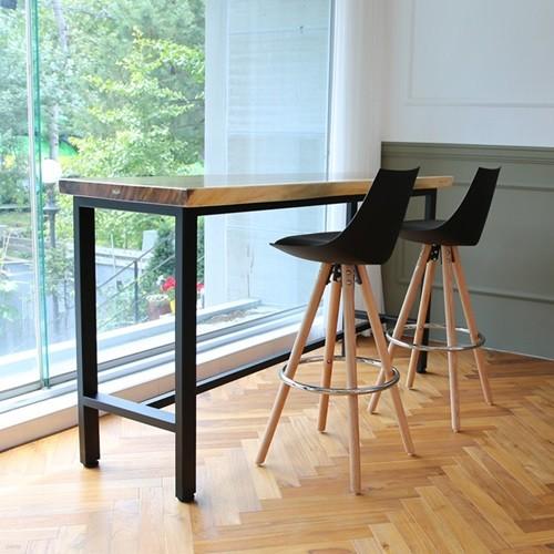 라센 보루네오 우드슬랩 통원목 바 테이블 1800