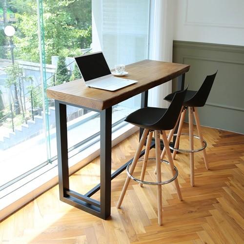 라센 뉴송 우드슬랩 통원목 바 테이블 1500