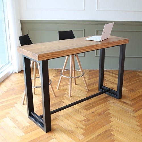 라센 뉴송 우드슬랩 통원목 바 테이블 1800