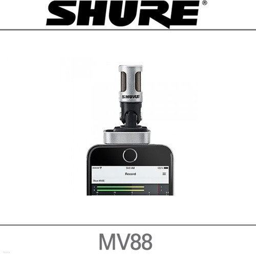 삼아정품 SHURE 슈어 MV88 애플용 디지털 스테레오 컨덴서 마이크