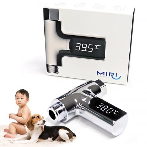 미리 샤워기 LED 온도계 아기 신생아 목욕물 온...