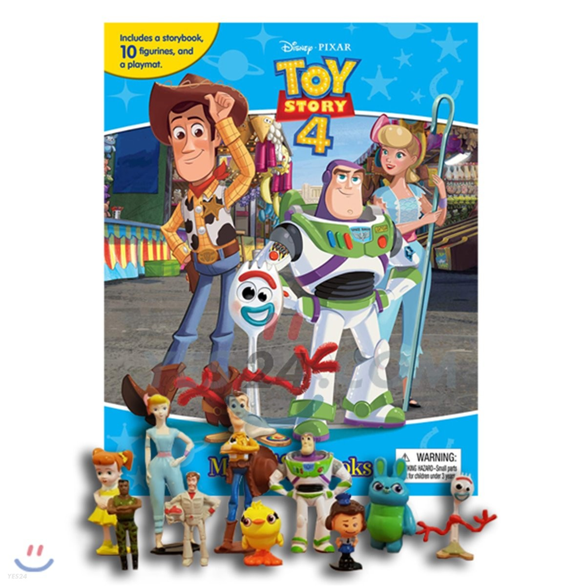 Disney Pixar Toy Story 4 My Busy Book 디즈니 픽사 토이스토리 4 비지북 피규어 책