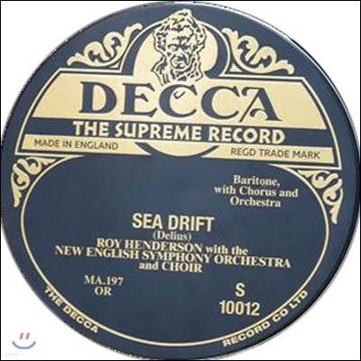 Roy henderson 프레데릭 딜리어스: 해류 (Frederick Delius: Sea Drift) [10인치 3 Vinyl]