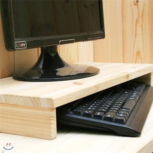 [알앤비]에이스 삼나무 원목 모니터 선반(기본형)/받침대/집중력향상 삼나무원목