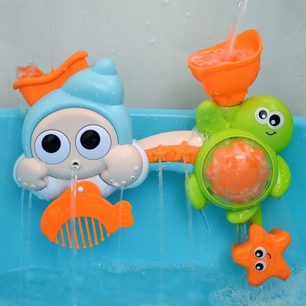 레츠토이 빙글빙글 소라 거북이 파이프 아기 목욕놀이 유아 물놀이 장난감