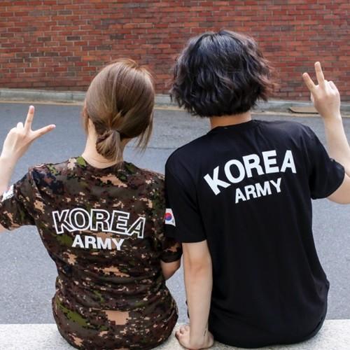[ROKA 로카티 기능성 반팔티 디지털] 군인군대용품 곰신 선물 밀리터리 반단체티셔츠 반티