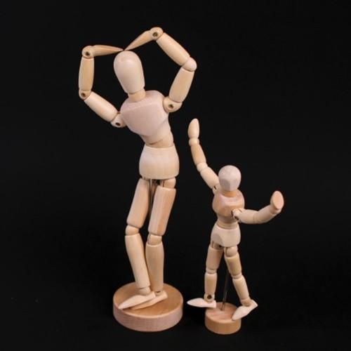 [갓샵 원목 나무 구체관절인형] 구관 데생 인형 미술용품 목각 우드 인체모형 드로잉 돌 Doll