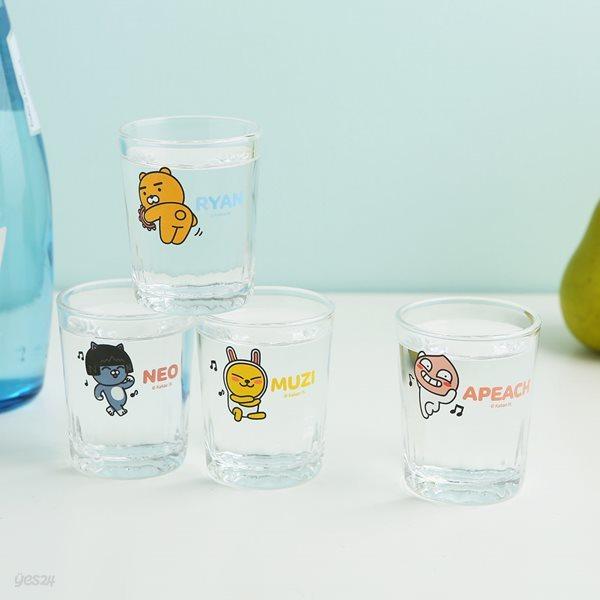 카카오프렌즈 댄스 소주잔 세트 4p