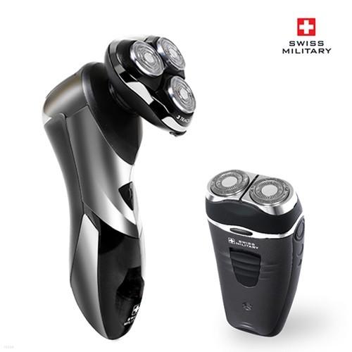[스위스 밀리터리] 충전식 전기 면도기 세트 (X700+D300)