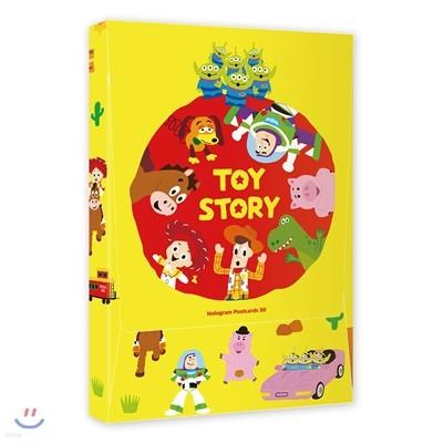 디즈니 픽사 토이 스토리 홀로그램 엽서북 30