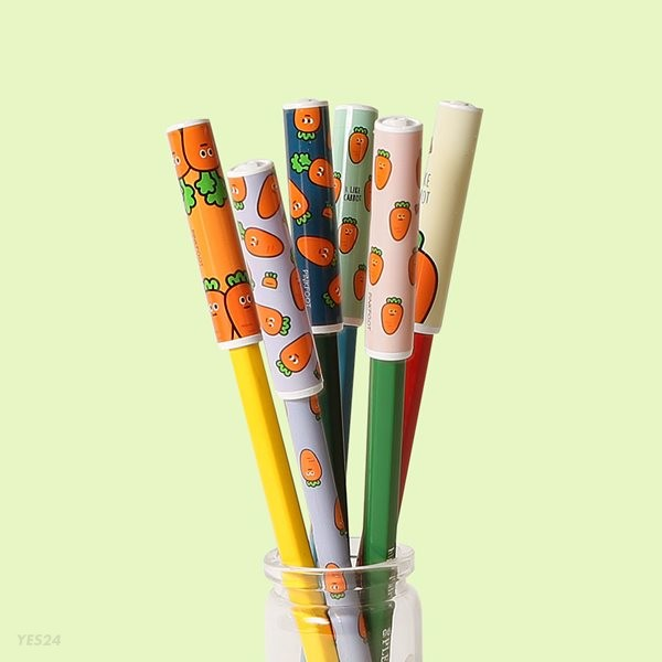 1000 당근 패턴 연필캡 (랜덤발송)