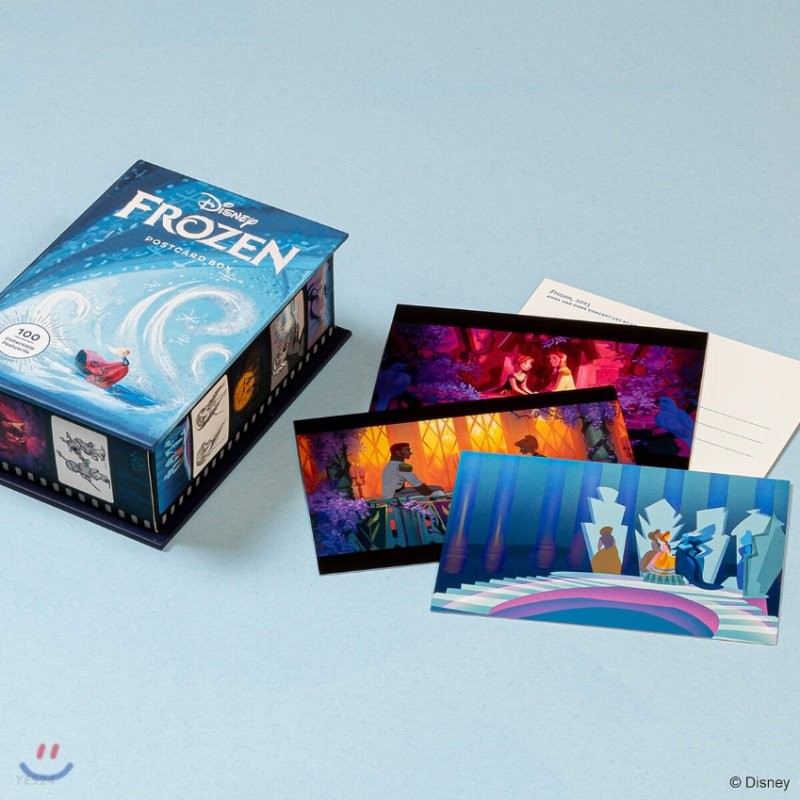Disney Frozen Postcard Box 디즈니 겨울왕국 원화 일러스트 엽서 100장 박스 세트