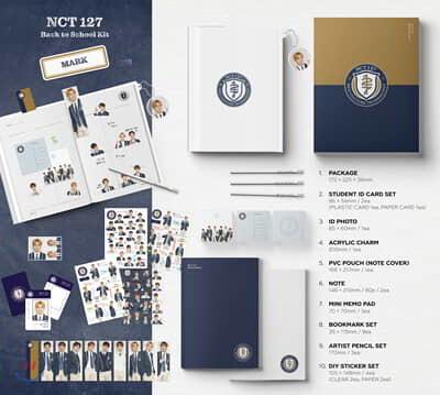 엔시티 127 (NCT 127) - 2019 NCT 127 Back to School Kit [마크]