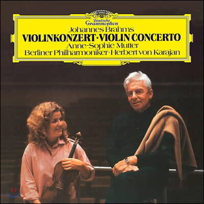 Herbert von Karajan / Anne-Sophie Mutter 브람스: 바이올린 협주곡 (Brahms: Violin Concerto) [LP]
