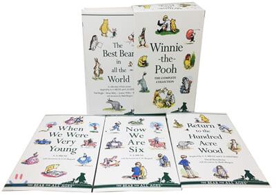 위니 더 푸 원서 완전판 컬렉션 6종 세트 (흑백) : Winnie-the-Pooh The Complete Collection