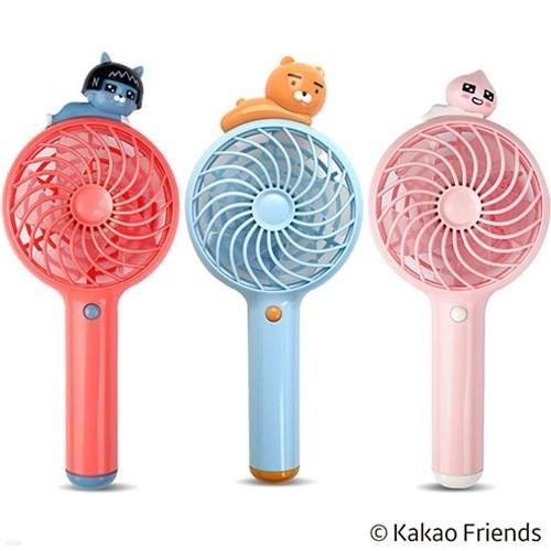 [카카오프렌즈] 무더운 여름 필수템 휴대용 핸디형 선풍기 충전식 라이언 네오 어피치