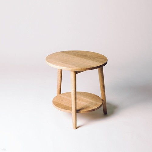 Selene 2 오크 원목 사이드테이블