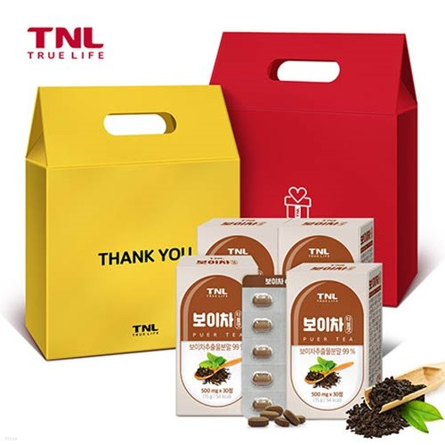 TNL뉴트리션 보이차 타블렛 4개입 선물세트