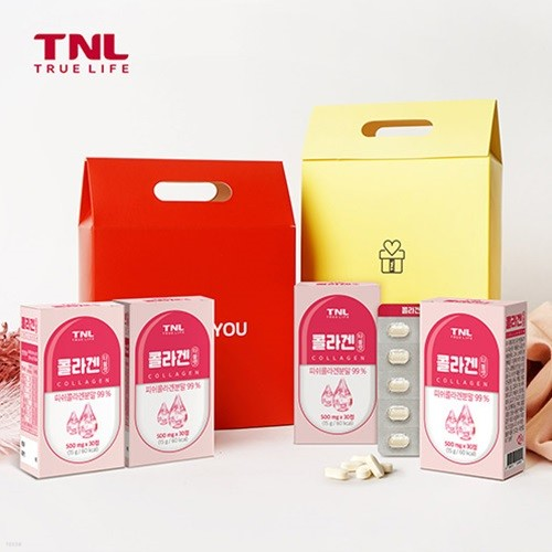 TNL뉴트리션 콜라겐 타블렛 4개입 선물세트