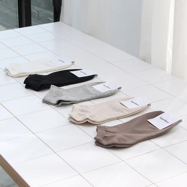 [슈퍼베이직][무료배송] 1220 편한 스니커즈 발목 양말 5색상 (5개 세트)
