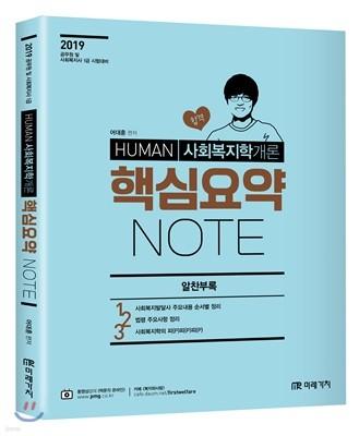 2019 HUMAN 사회복지학개론 핵심요약 NOTE