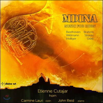 Etienne Cutajar 베토벤: 호른 소나타 / 브람스: 호른 삼중주 / 슈트라우스: 안단테 외 (Mdina - Music for Horn)