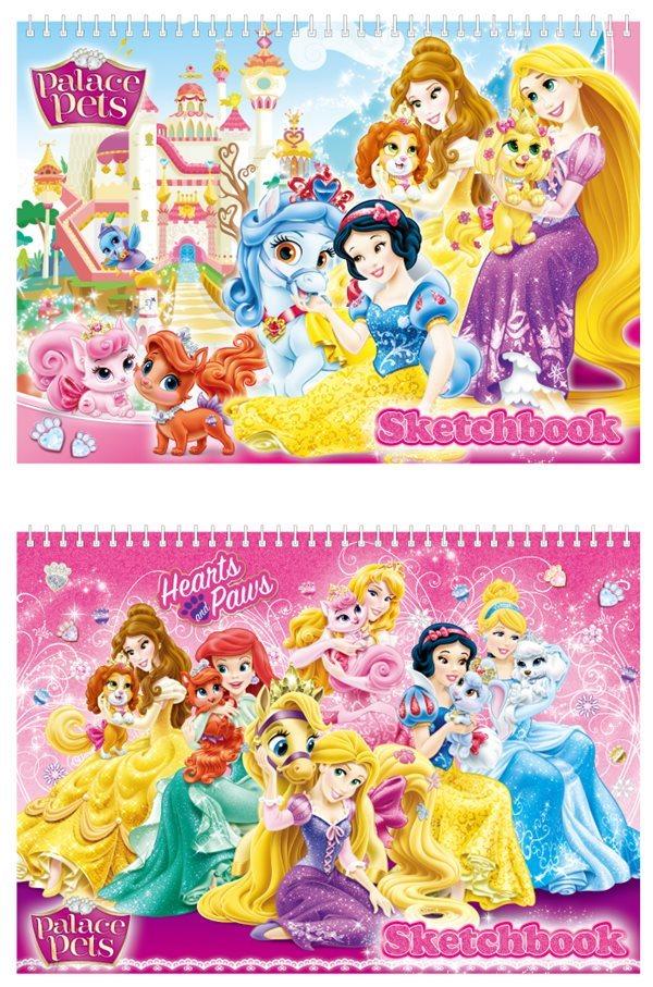 디즈니 프린세스 여아용 스케치북 1000 (10권 세트)