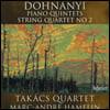 Takacs Quartet 도흐나니: 피아노 오중주와 현악 사중주 - 타카치 사중주단 (Dohnanyi: Piano Quintets and String Quartet)