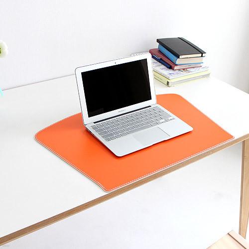아리아라 데스크 패드 팬형 오렌지 deskpad