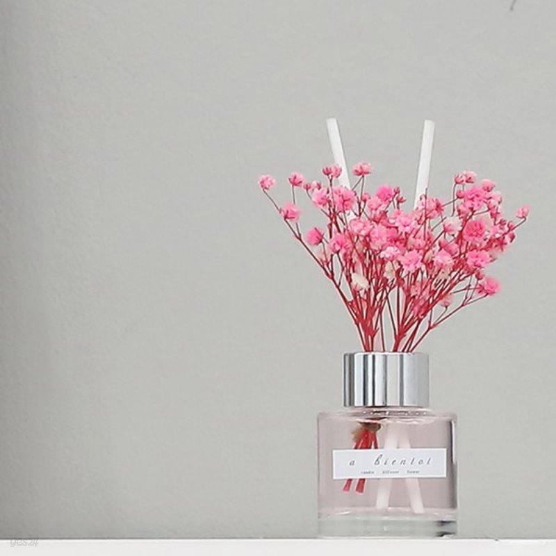 bath room 안개꽃 미니 디퓨저 50ml(핑크)