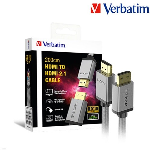 버바팀 10K 120Hz UHD HDMI 2.1 메탈 케이블 2M