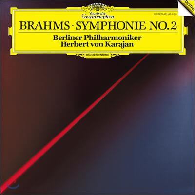 Herbert von Karajan 브람스: 교향곡 2번 - 헤르베르트 폰 카라얀 (Brahms: Symphony Op.73) [LP]