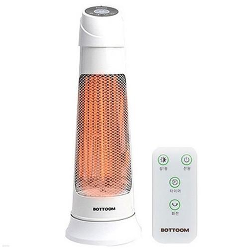 [바툼] 카본 타워형 리모컨 전기히터 (중형/600W/전기난로/복사열방식/초절전/순간히터)