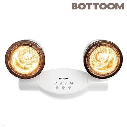 [바툼] 완전방수 욕실난방기 프리미엄 듀얼 2구 (욕실히터/순간히터/램프안전커버/과열방지타이머/특수골드램프)