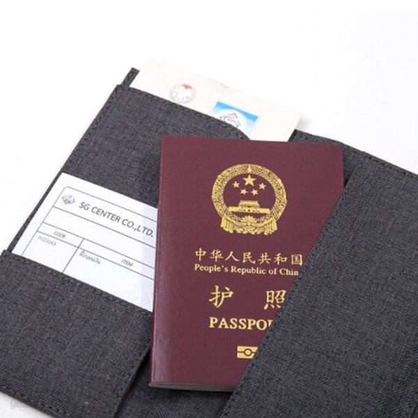 DELI 델리 눈사인 패브릭 여권 케이스 여권파우치 여권홀더