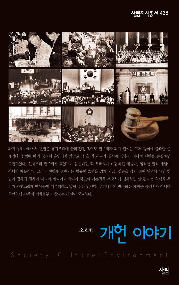 개헌 이야기 - 살림지식총서 438