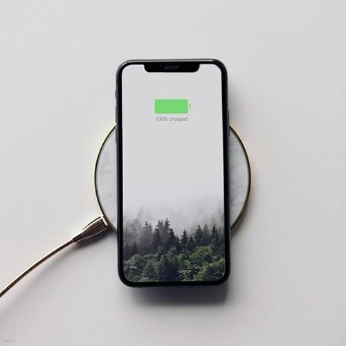 마블 인테리어 스마트폰 무선충전기 2colors