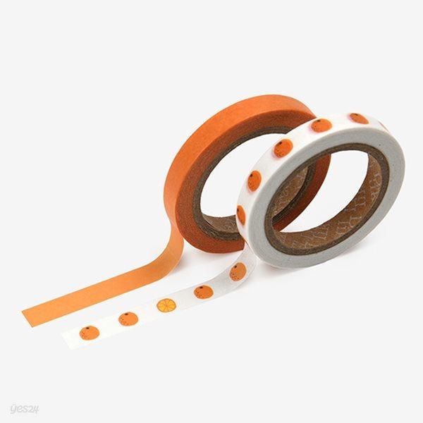 Masking tape slim 2p - 16 Citrus