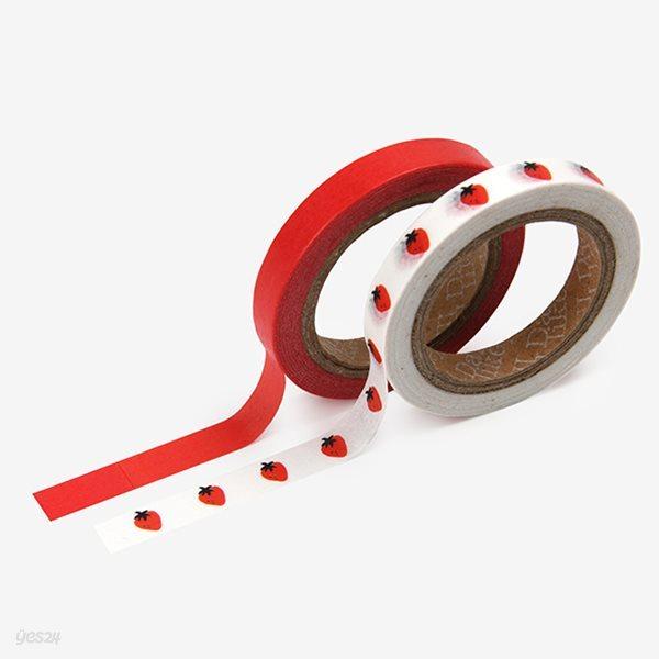 Masking tape slim 2p - 17 Strawberry