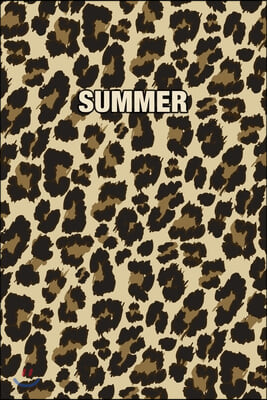 Summer: Personalized Notebook - Leopard Print (Animal Pattern). Blank College Ruled (Lined) Journal for Notes, Journaling, Dia