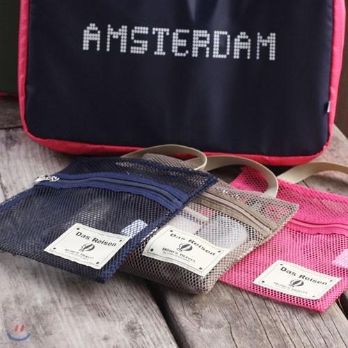 [하이모리] Travel Mesh Bag Slim [트래블백/트래블파우치/메쉬백/메쉬파우치/여행보조가방/여행용품/여행정리백/메쉬]