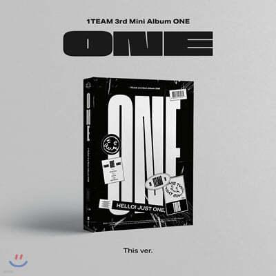 원팀(1TEAM) - 미니앨범 3집 : ONE [This Ver.]