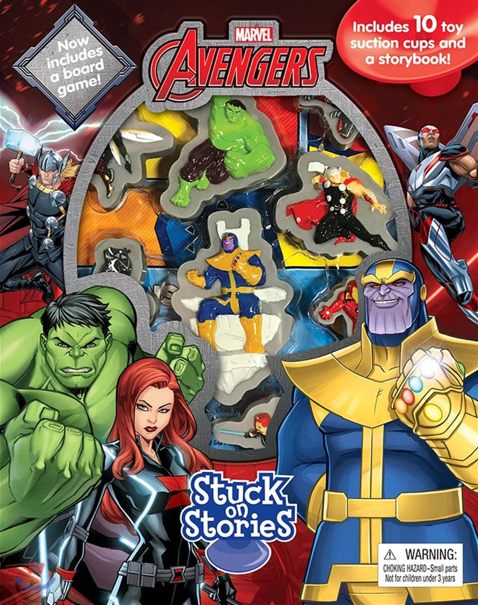 Stuck On Stories : Marvel Avengers Infinity War 스턱온 시리즈 : 마블 어벤져스 인피니티 워 (흡착 피규어 10개 포함)