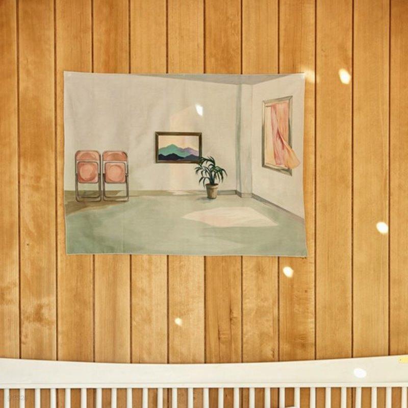 일상그림 패브릭포스터 '텅 빈 마음이었다'