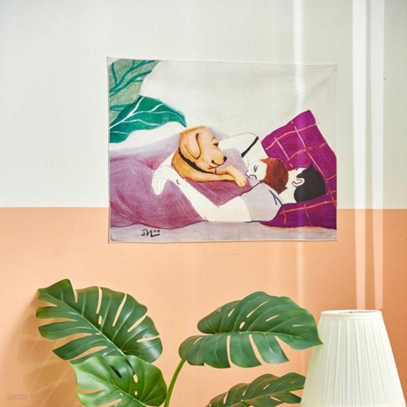일상그림 패브릭포스터 '순간 따뜻한 그림  'The warm moment''