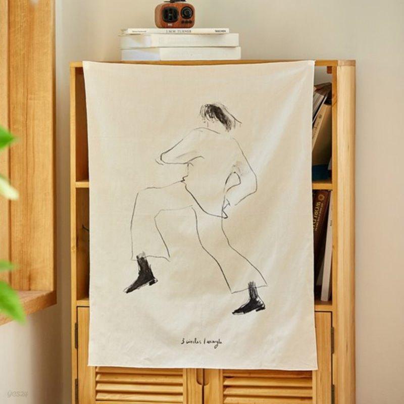 일상그림 패브릭포스터 '춤꾼'
